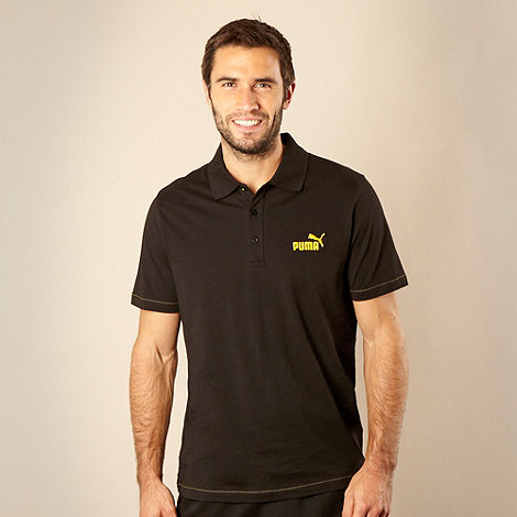 Puma - Black jersey polo shirt