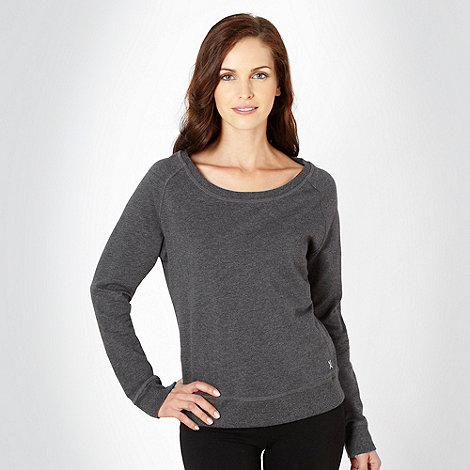 XPG by Jenni Falconer - Dark grey crew neck sweat top