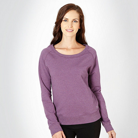 XPG by Jenni Falconer - Dark purple crew neck sweat top