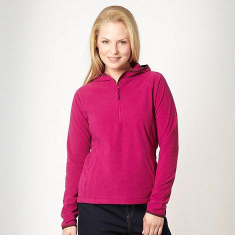Berghaus - Dark pink fleece hoodie