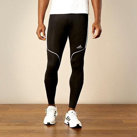 adidas - Black slim fitting running tights