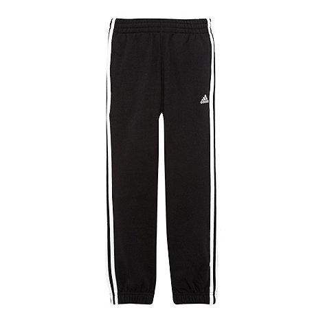 adidas - Boys+ black essential jogging bottoms
