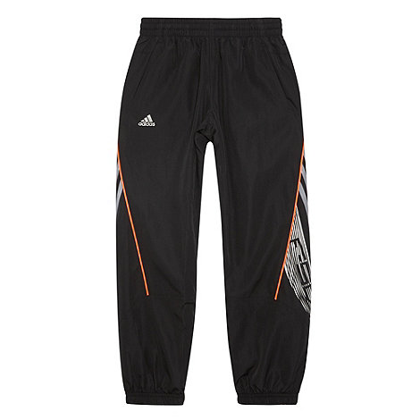 adidas - Black net lined jogging bottoms