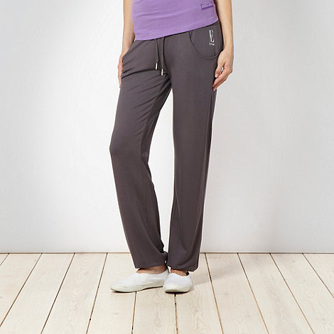 Elle Sport - Dark grey drape cuffed pants