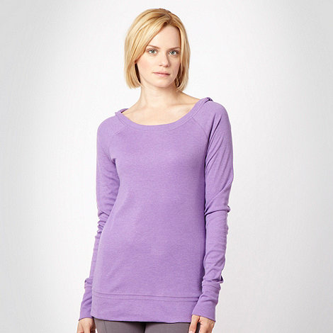 Elle Sport - Purple slim sports hoodie