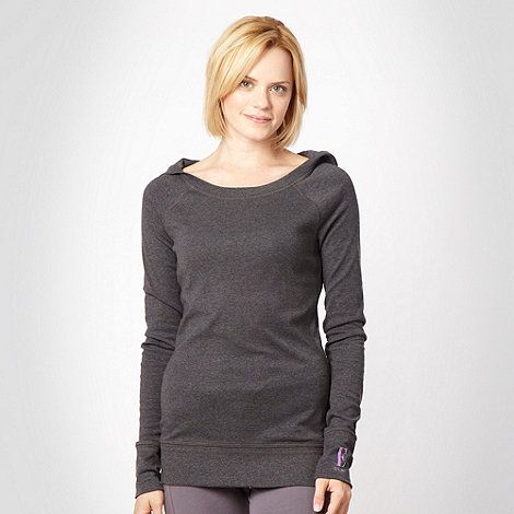 Elle Sport - Dark grey slim sports hoodie