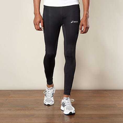 ASICS - Black reflective panel fitness leggings