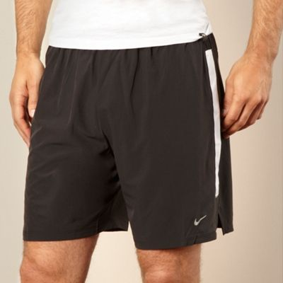 Nike Black perforated striped training shorts