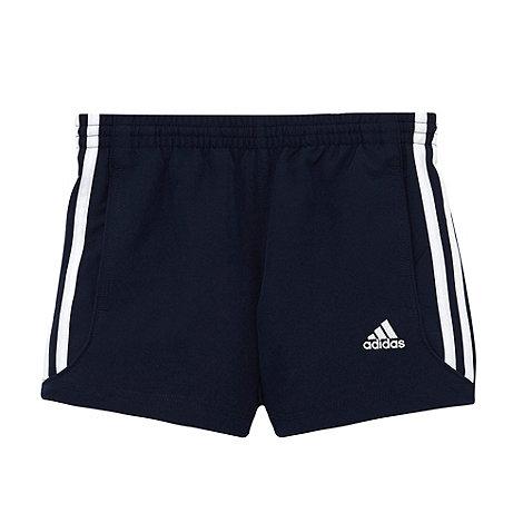 adidas - Boy+s navy piped shorts