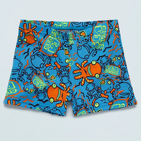 Speedo - Boy's blue 'Sea Squad' swim shorts