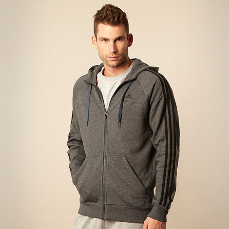 adidas - Grey +Essential+ zip through hoodie