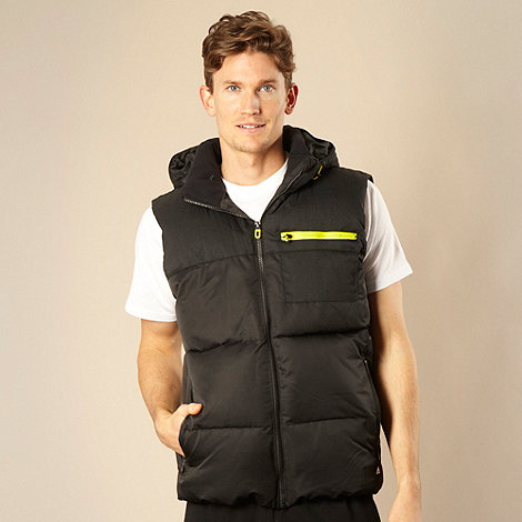 adidas - Black padded hooded gilet