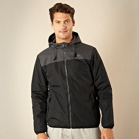 Nike - Dark grey fleece lined hooded jacket