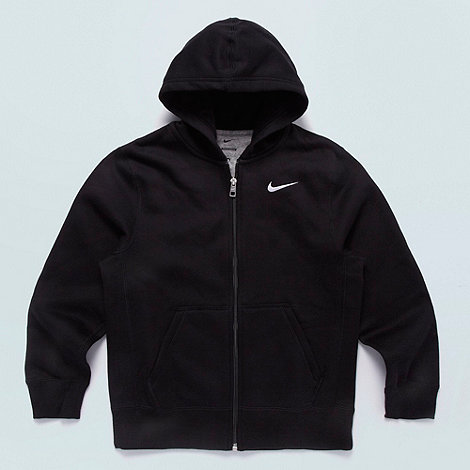 Nike - Boy+s black essential zip through hoodie