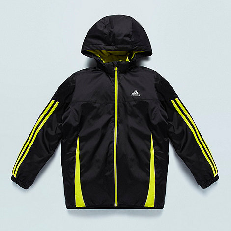 adidas - Boy+s black lightweight sports jacket