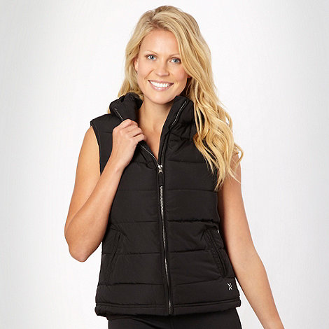 XPG by Jenni Falconer - Black padded hooded gilet