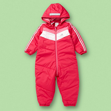 adidas - Baby+s pink padded snowsuit