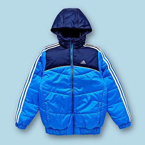 adidas - Boy+s blue padded water repellent jacket