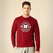 Nike maroon 'Athletic Squad' printed sweatshirt