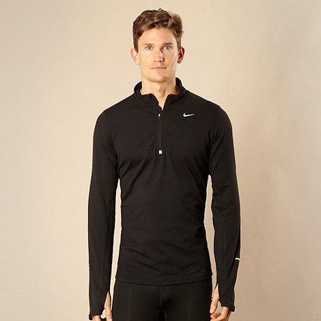 Nike - Black half zip funnel top