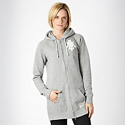 Nike - Grey 'Rally' zip through hoodie