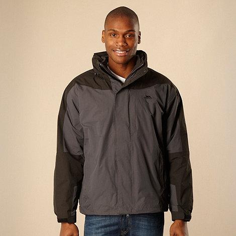 Trespass - Dark grey 3-in-1 hooded technical jacket