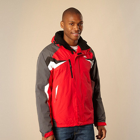 Trespass - Red hooded performance jacket