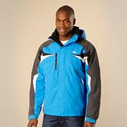 Blue waterproof jacket