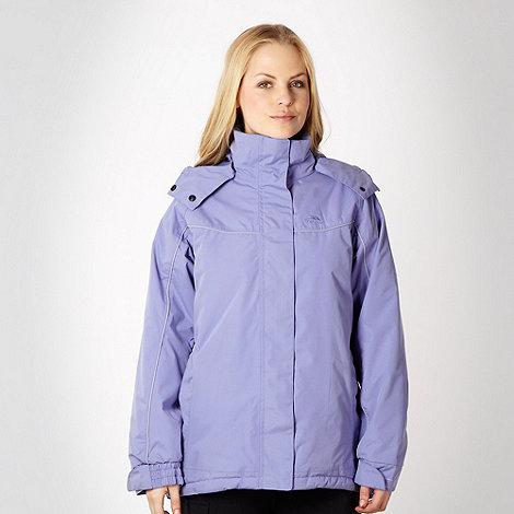 Trespass - Lilac hooded technical rain jacket
