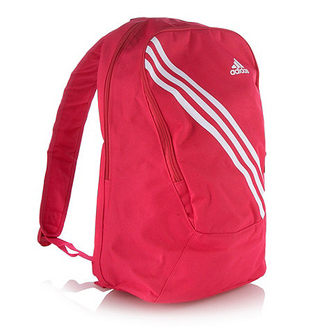 adidas - Bright pink striped backpack