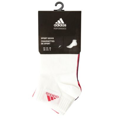 Adidas Pack of three pink white and purple ankle socks