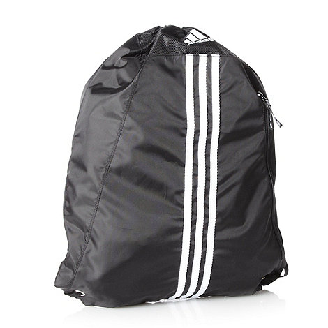 adidas - Black essential striped gym bag