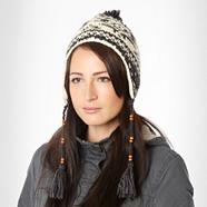 Cream fairisle knitted trapper hat