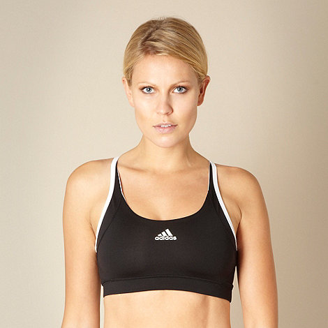 adidas - Black +Essential+ sports bra