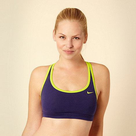 Nike - Purple +Indy+ racer back sports bra