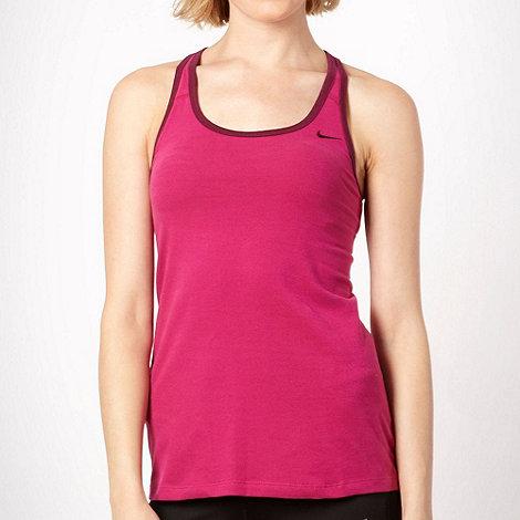 Nike - Dark pink +Indy+ racerback vest