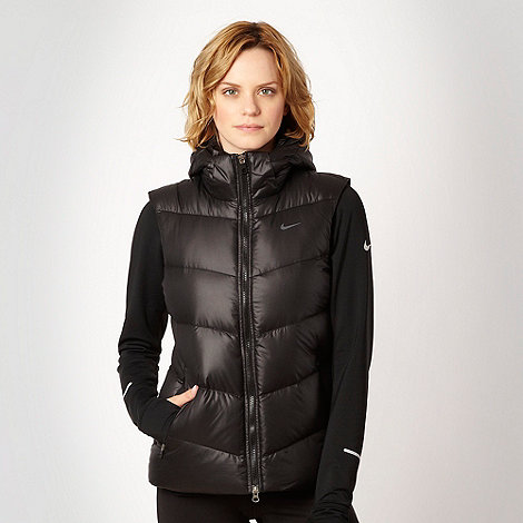 Nike - Black fill down padded gilet