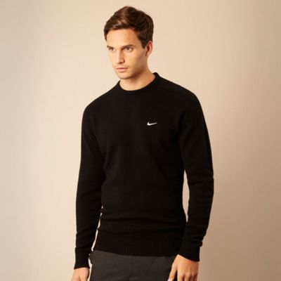 Nike Black wool golf jumper