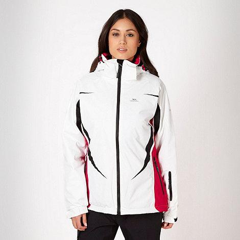 Trespass - White waterproof thermal jacket