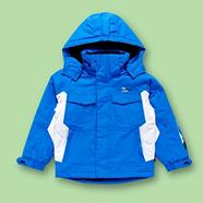 Boy's blue waterproof thermal coat
