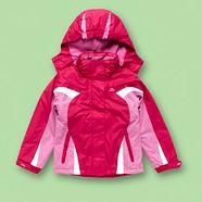 Girl's pink waterproof thermal coat