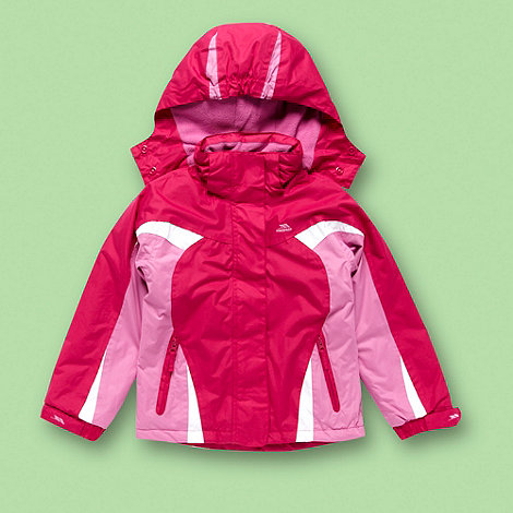 Trespass - Girl+s pink waterproof thermal coat