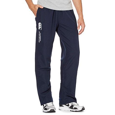 Canterbury - Navy zip open-seam pants