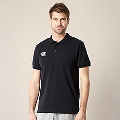 Canterbury - Black pique polo shirt