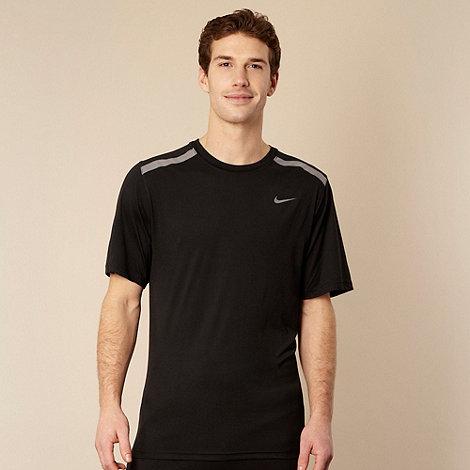 Nike - Black mesh stripe t-shirt