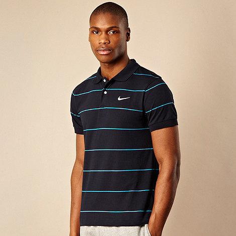 Nike - Dark blue striped polo shirt