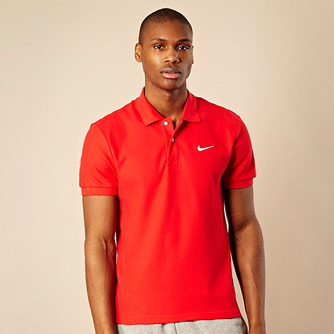 Nike - Red pique polo shirt