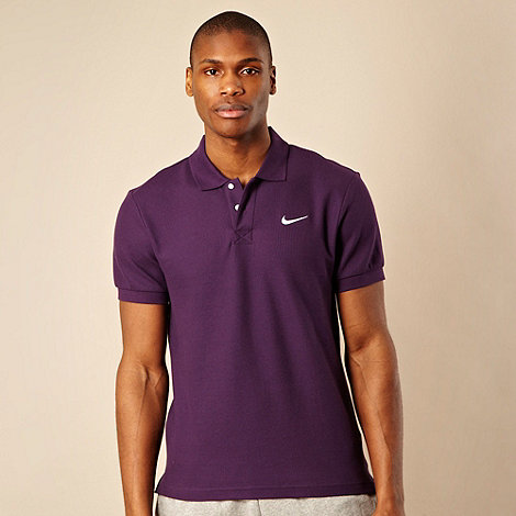 Nike - Dark purple pique polo shirt