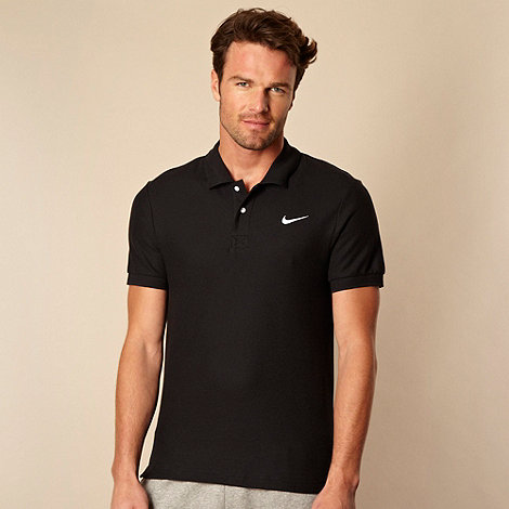 Nike - Black pique polo shirt