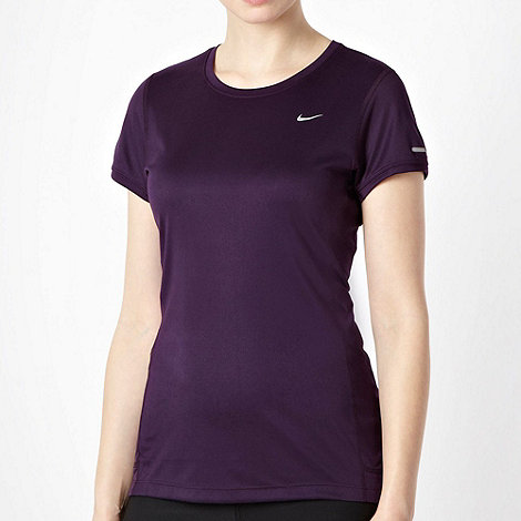 Nike - Dark purple crew neck running top